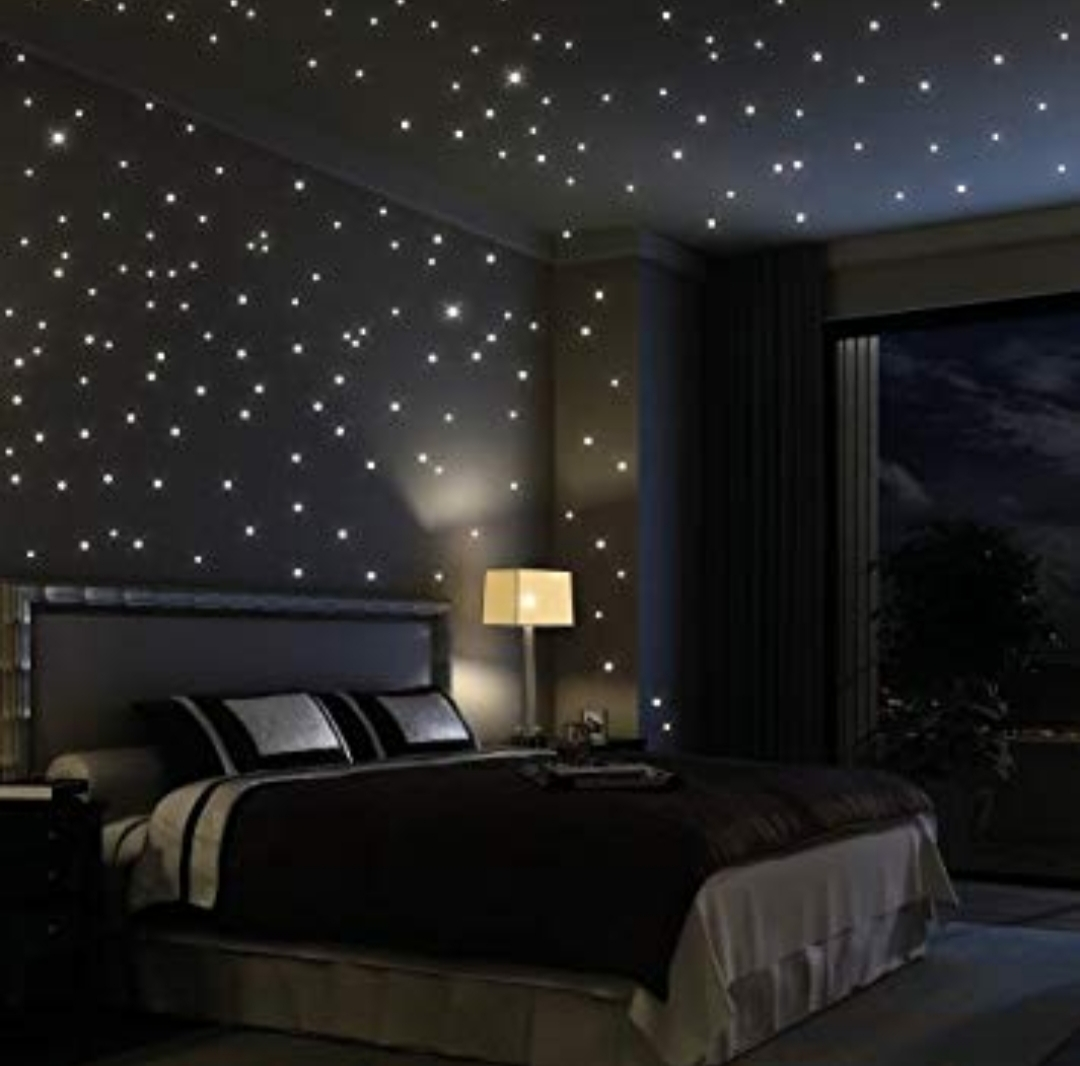 Starry Sky Ceiling Night Sky Ceiling Lights Stars Ceiling Dubai - How-to-make-a-starry-night-ceiling-in-the-bedroom